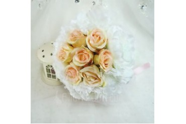 Comely Round Artificial Silk Bridal Bouquets (123048084)