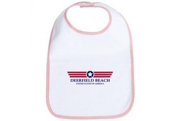Deerfield Beach Pride Florida Bib by CafePress