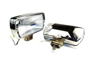 Delta Industries Delta 220 Series Fog Light Kit - Chrome (Steel Housing) 01-7139-50CX Offroad Racing, Fog & Driving Lights