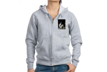 Bouguereau Seated Nude Vintage Women's Zip Hoodie by CafePress