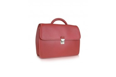 Rialto - Red Embossed Calf Leather Briefcase