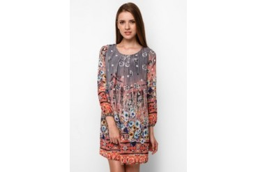 Chic Simple L/S Printed Dress