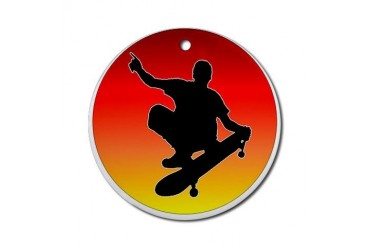 "Big Air"" Skater Ornament (Round)"