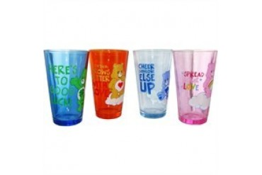 Care Bears Color Phrases Four Pint Glass Set