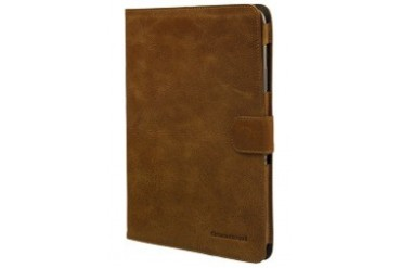 Leather classic folio case for Galaxy Note 10.1 - Golden tan