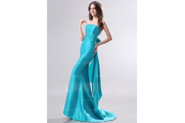 Trumpet/Mermaid Strapless Sweep Train Taffeta Evening Dress (017014276)