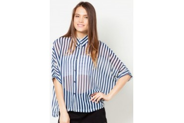 TLA Bat Sleeve Loose Chiffon Top
