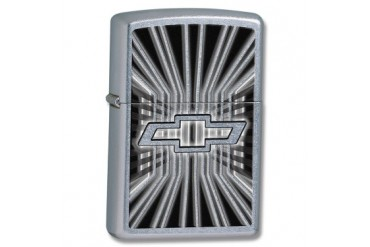 "Zippo ""Chevrolet Bowtie"" Lighter with High Polish Chrome Finish"