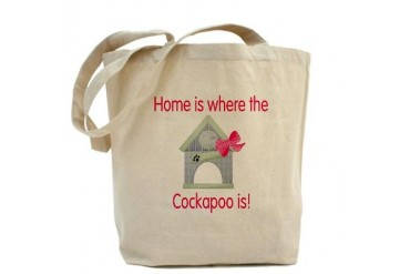 Home is where the Cockapoo is Pets Tote Bag by CafePress
