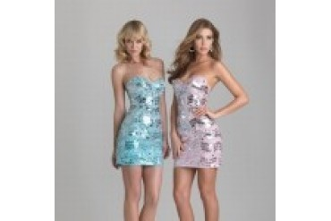 "Evenings by Allure ""In Stock"" Aqua Cocktail Dress - Style 6665"