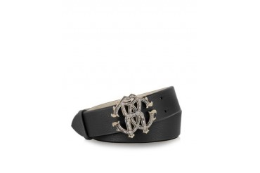 Black Leather Signature Belt