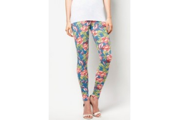 CLUB ZEN Leggings With Tiger Lily Print