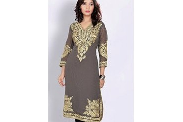Attractive Embroidered Georgette Kurti