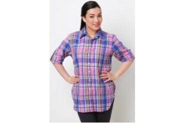 Nonet Checkered Blouse