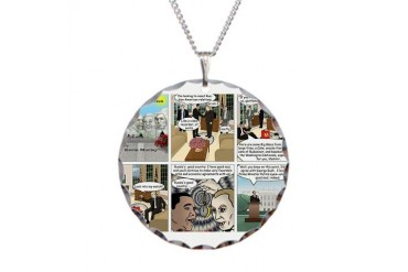 Obama Meets President Putin Barack obama Necklace Circle Charm by CafePress
