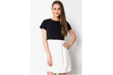 Urban Twist Blocking Tone Mini Dress