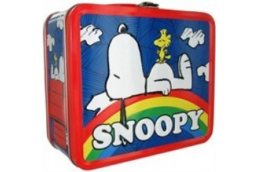 Peanuts Snoopy Woodstock Rainbow Metal Lunch Box