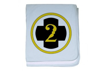 USA 2nd Medical Brigade Army baby blanket by CafePress