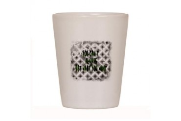You Cant Always Get What You Want Abstract Shot Glass by CafePress