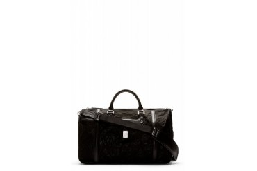 Diesel Black Shimmer Vanguarding Duffle Bag