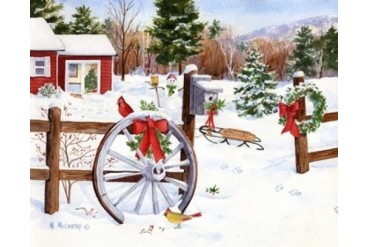 Winter Welcome Poster Print by Maureen Mccarthy (20 x 16)