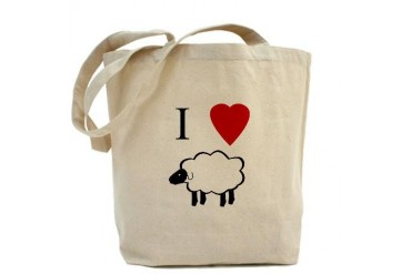 I Heart Sheep Love Tote Bag by CafePress