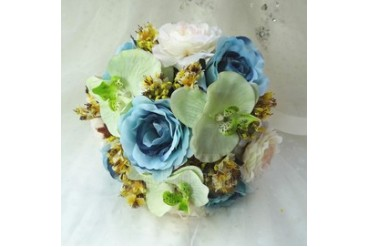 Attractive Hand-tied Cloth Bridal Bouquets (123047073)