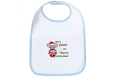 Holiday Mouse Cute Bib by CafePress