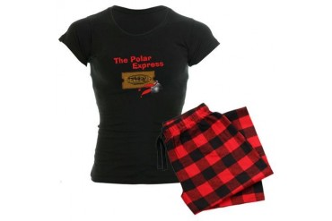 The Polar Express Ticket Women's Dark Pajamas
