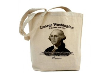 George Washington 01 Quotes Tote Bag by CafePress