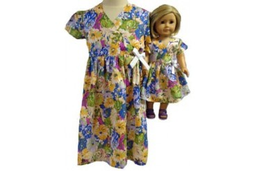 Size 2 Matching Girl amp Doll Flower Dress