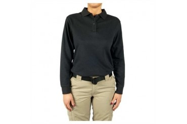 Women's 24-7 Long Sleeve Polos - Polo Shirt 24-7 Ladies Navy Ls Lr