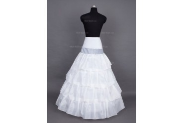 Women Nylon/Satin Floor-length 4 Tiers Petticoats (037024155)
