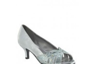 Dyeables Shoes - Style Tracy Silver Shimmer 35614