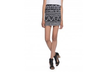 Willow & Clay Embroidered Mini Skirt Black, XS