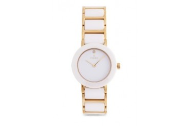 Fjord Celilia FJ-6004-55 White/Gold Ceramic Bracelet Watch
