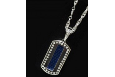 Scrolling LED Dog Tag (Blue)
