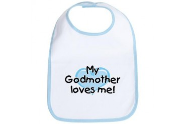 My Godmother loves me (bl) Bib