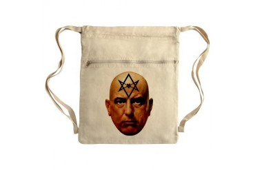 Aliester Crowley Sack Pack Heavy metal Cinch Sack by CafePress