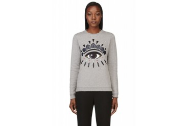 Kenzo Grey Embroidered Eye Sweatshirt