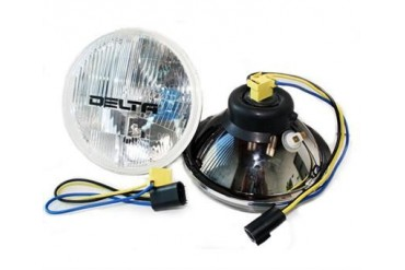 "Delta Industries 7"" Round Headlight Kit, Xenon H4 01-1148-50X Headlight Replacement"