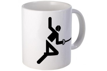 Fencer Sports Mug by CafePress