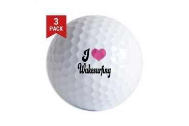 I Love Wakesurfing I heart Golf Balls by CafePress