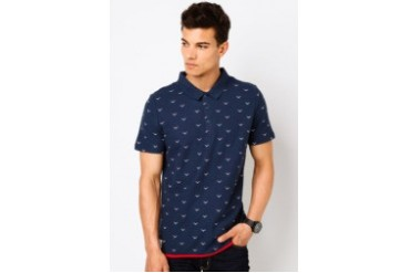 Gull Print Polo Shirt