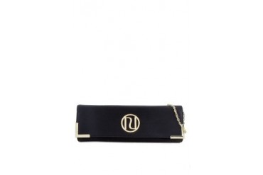 RIVER ISLAND Black Slim Clutch Bag
