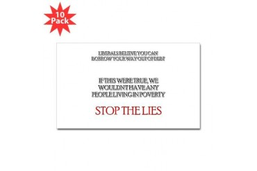 Stop the Lies Obama Sticker Rectangle 10 pk by CafePress