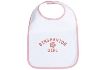 Binghamton Pink Girl New york Bib by CafePress
