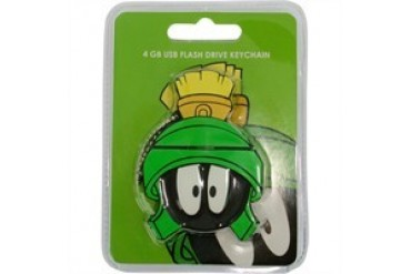 Looney Tunes Marvin the Martian Head 4 GB Flash Drive Flexible Keychain