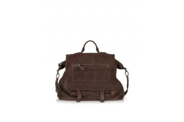 Thomas Moka Leather Satchel