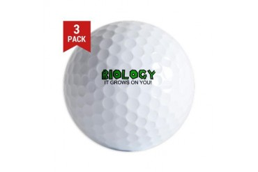 Biology Funny Golf Balls by CafePress